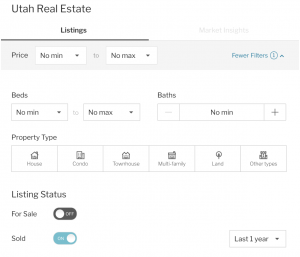 Lead list parameters with Redfin